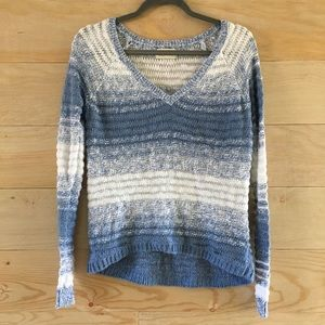 Blue & White With Silver Shimmer Hollister Sweater